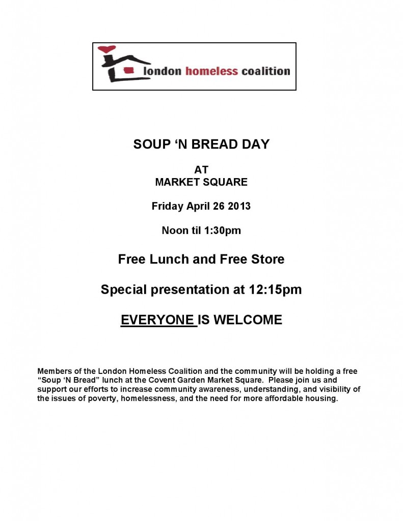 LHC - Soup 'n Bread Flyer April 2013