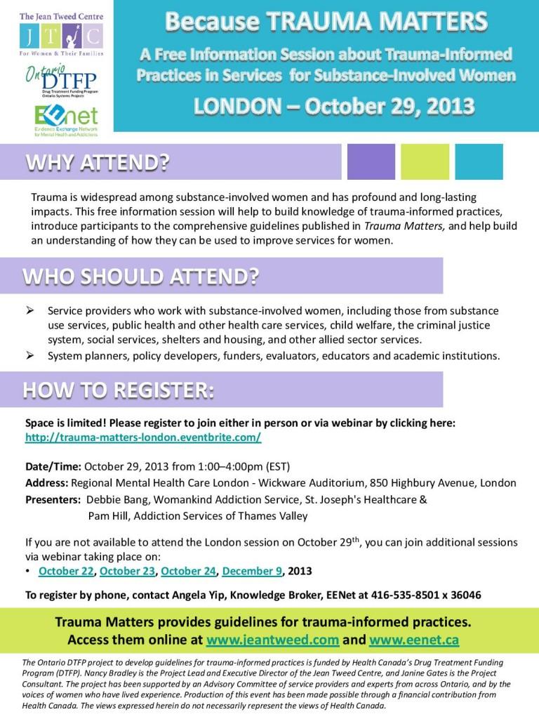 Trauma Matters 2013 - London